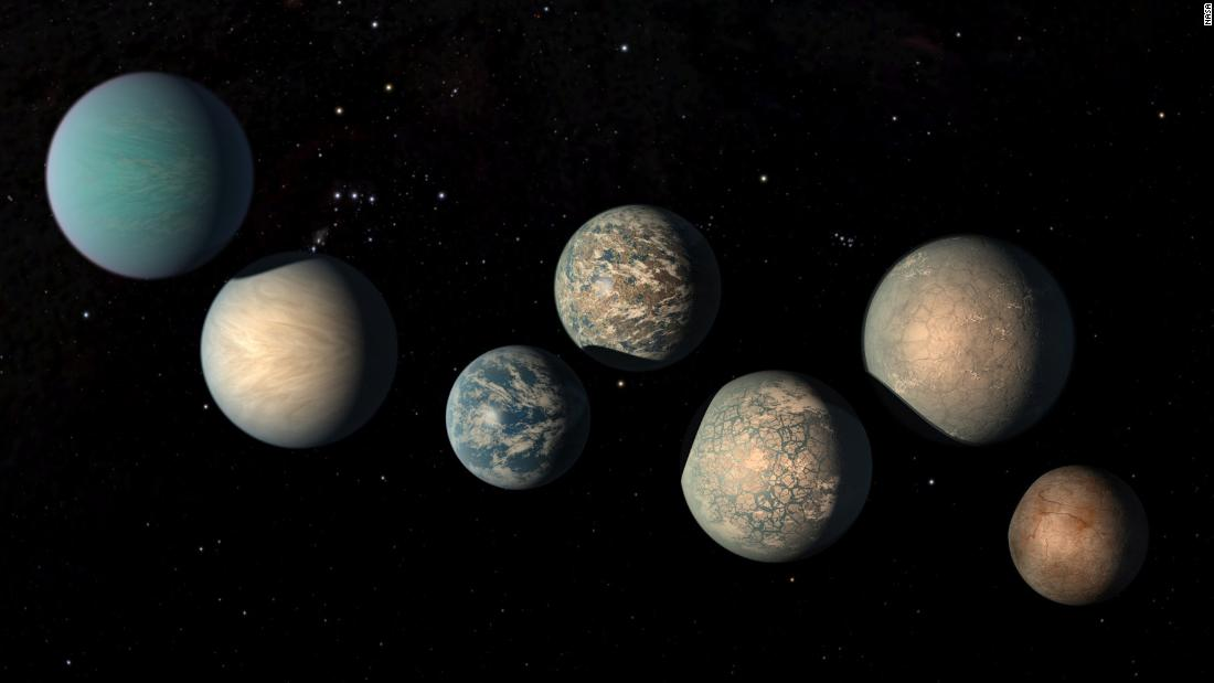 This illustration of the TRAPPIST planets reveals more about how their surfaces might appear.