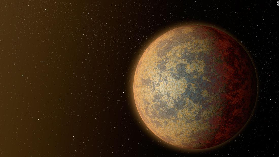 This illustration shows what HD 219134b might look like, the nearest confirmed rocky exoplanet found outside of our solar system.