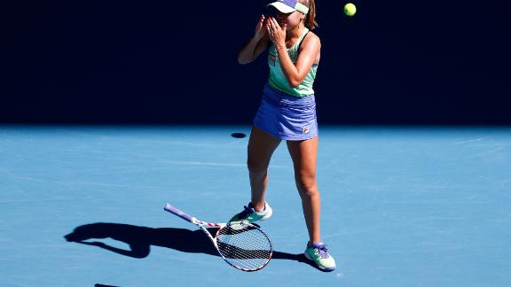 Sofia Kenin reached her first grand slam final by defeating home hero Ashleigh Barty in the semifinals.