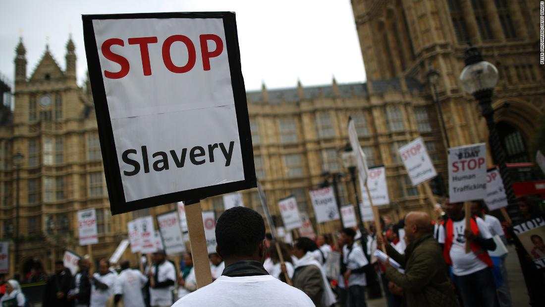 The UK has thousands of people in modern slavery -- and in London it's getting increasingly worse