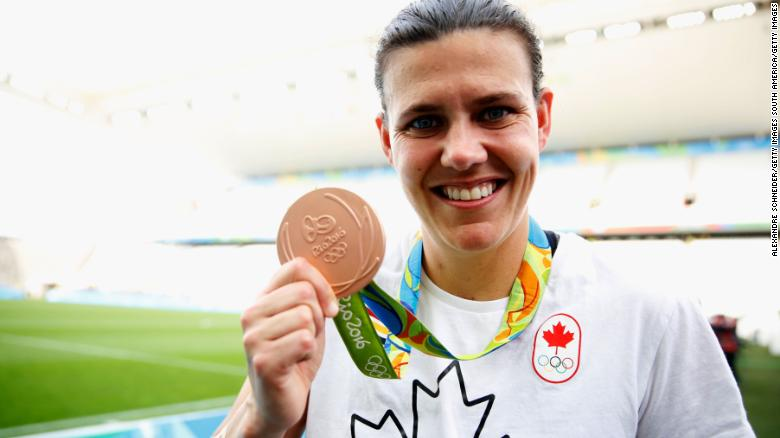 Christine Sinclair helped Canada to consecutive bronze medals at the 2012 and 2016 Olympics.