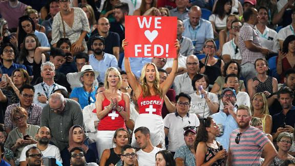 As always, there was a lot of love for Swiss star Roger Federer in the crowd.