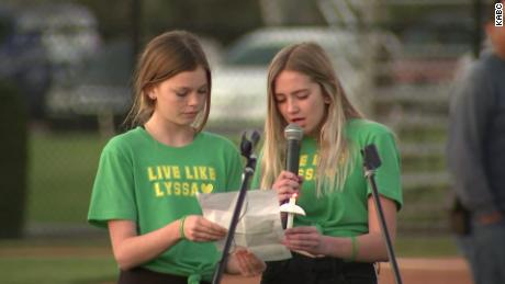 "Some friends of Alyssa Altobelli wore ""Live Like Lyssa"" T-shirts in green and gold -- the colors of her favored college, the University of Oregon."