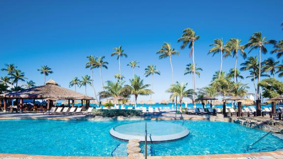 Use your annual night certificate at properties like the Holiday Inn Resort Aruba-Beach.