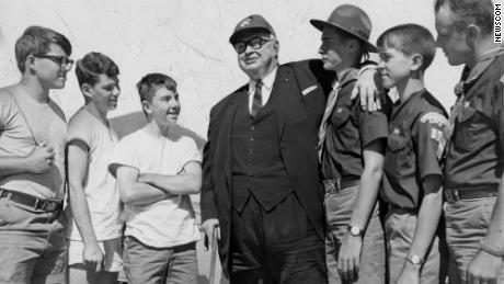 Besides serving as Kansas City's mayor, Harold Roe Bartle, center, was a Boy Scout executive known for creating the Tribe of Mic-O-Say honor program.