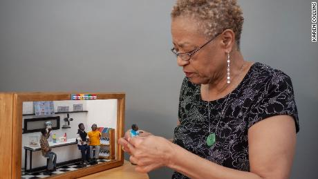 Karen Collins, founder of the African American Miniature Museum, creates dioramas that capture moments in black history in the US.