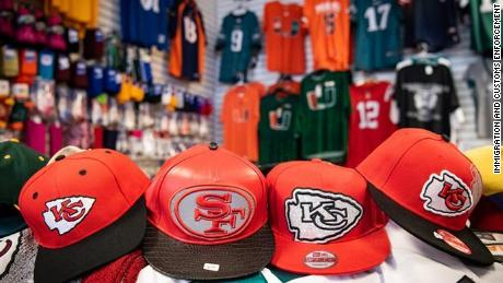 Federal officials announced  the seizure of more than 176,000 counterfeit sports-related items.
