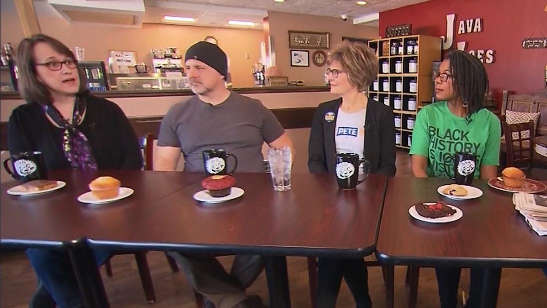 Diese Iowa Wähler unterstützen verschiedene Kandidaten, aber auf dieser einverstanden