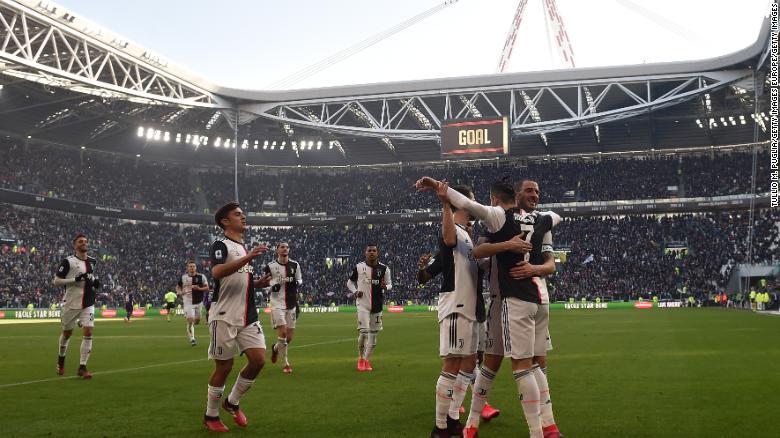 Cristiano Ronaldo celebrates scoring his second penalty.
