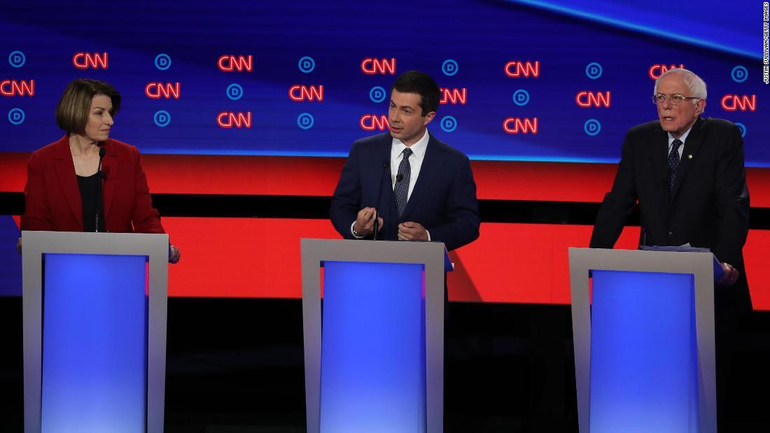 CNN hosts town halls with Sanders, Buttigeig and Klobuchar