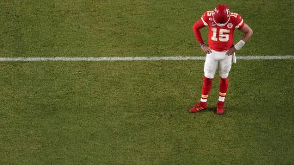 Mahomes looks down the game.