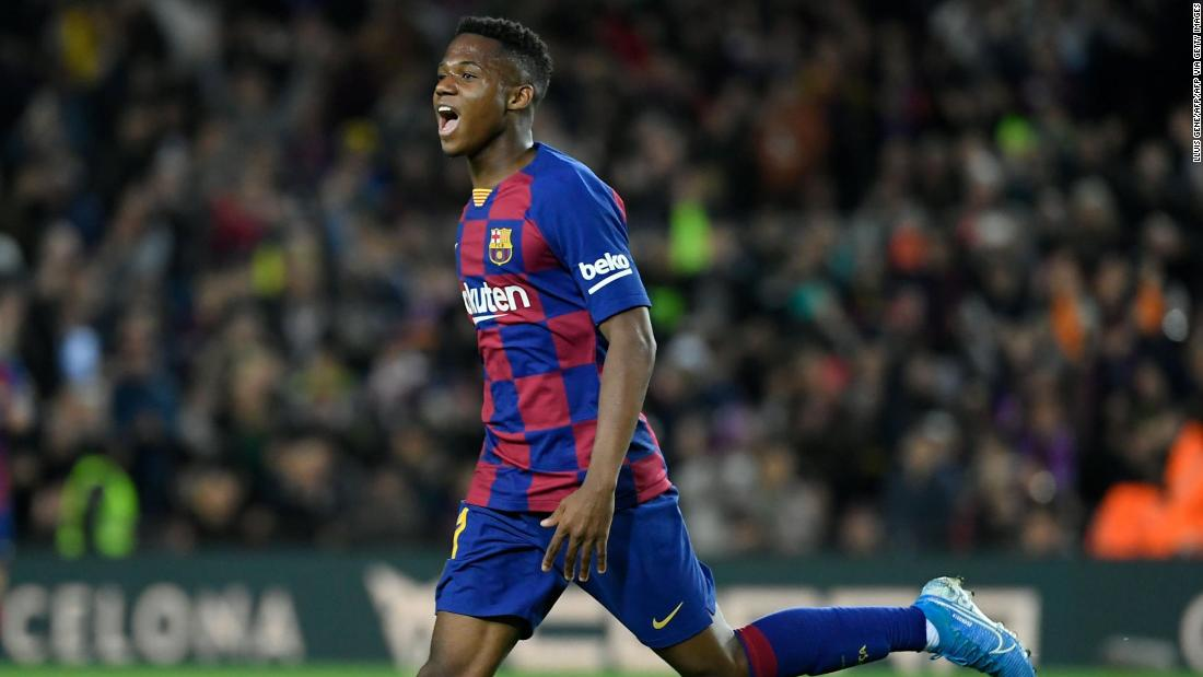 'This is all a dream': Teenage star Ansu Fati gives Barcelona narrow victory over Levante - CNN