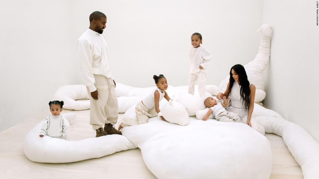 A rare look inside Kim and Kanye's stunning LA mansion