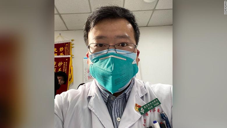 "Li Wenliang, a doctor in Wuhan, was punished by police for ""spreading rumors"" over a message warning people against the coronavirus."