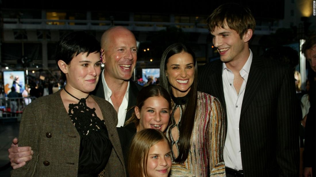 Ashton Kutcher says he stays in touch with Demi Moore's daughters