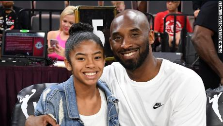 Gianna Bryant and her father, former NBA player Kobe Bryant.