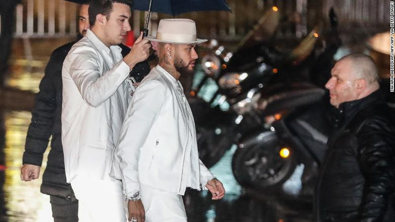 Neymar attends his birthday party on February 2 at the Yoyo venue in the Palais de Tokyo in Paris.