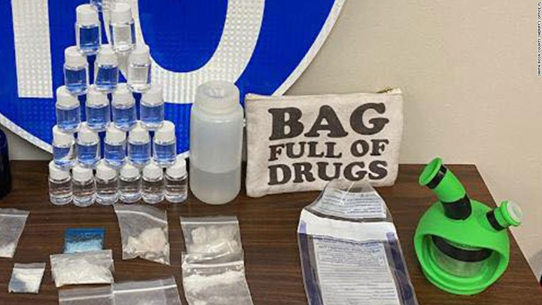 Florida police made a traffic stop and found a bag full of drugs fittingly labeled 'Bag Full Of Drugs'