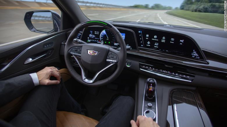 Cadillac's Super Cruise system, which will be available on the new Escalade, allows the vehicle to drive hands-free on major highways.