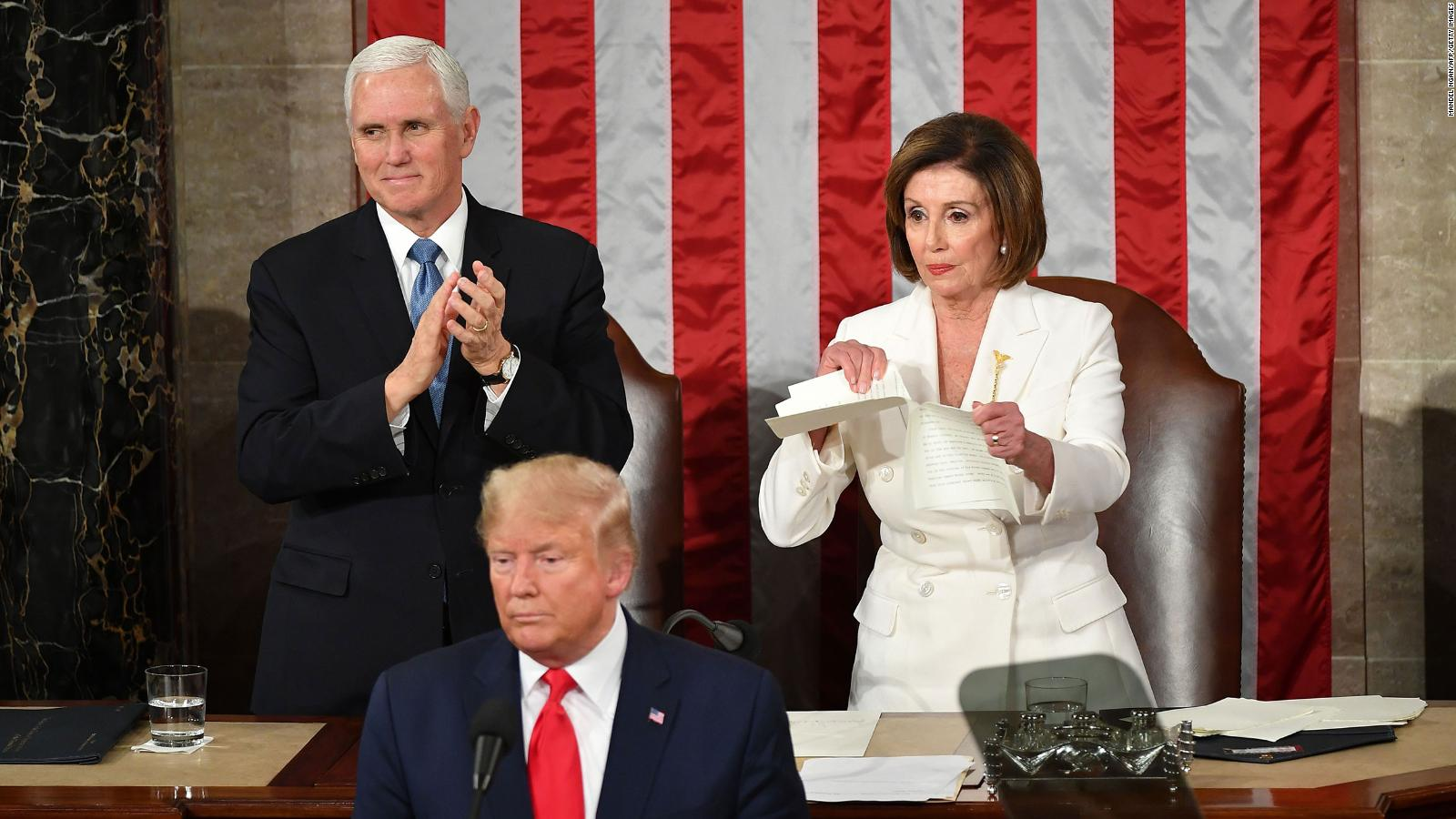 Nancy Pelosi ripping Donald Trump's speech may not have been planned, but  it was effective - CNN