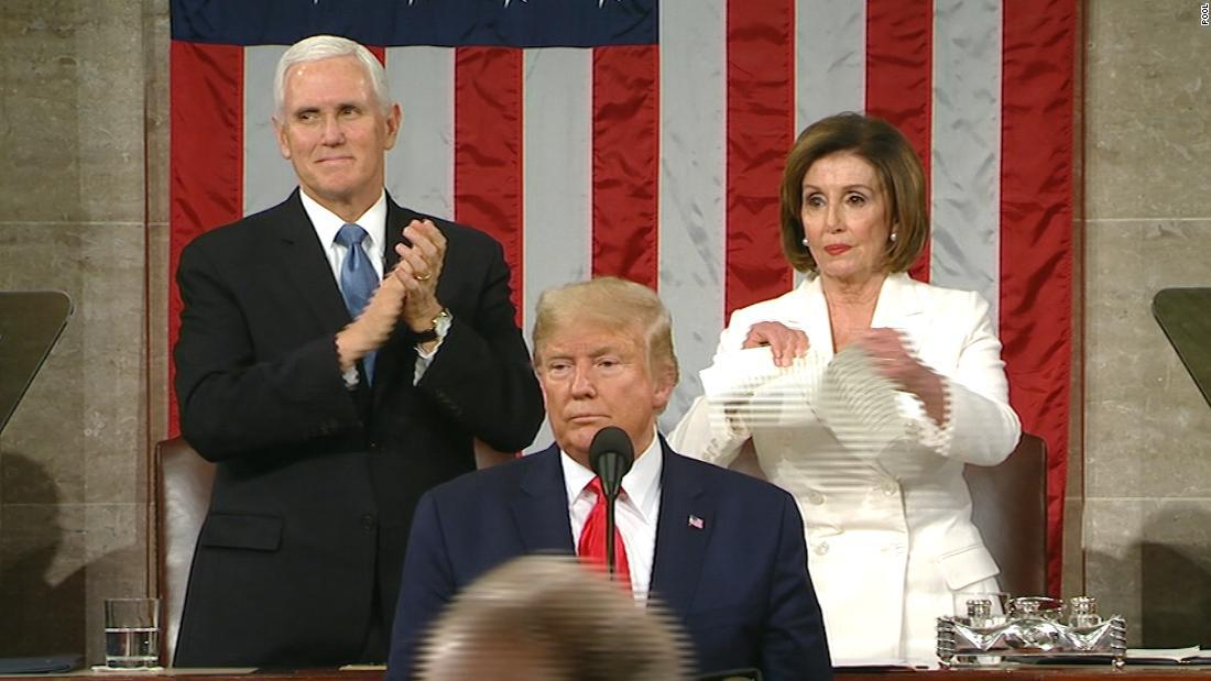 <b>Nancy Pelosi tore up her copy of Trump's State of the Union speech</b>