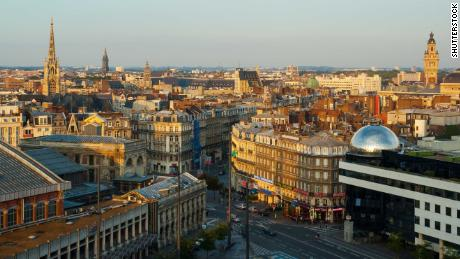 A general view of downtown Lille, in northern France.
