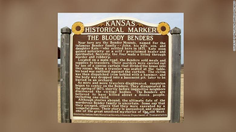 "The ""Bloody Benders"" Kansas Historical Marker."