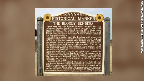 "The ""Bloody Benders"" Kansas Historical Marker."