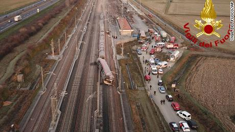 Italian authorities said the train derailed early on Thursday morning.