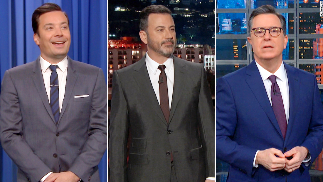 TV-comedians spotten Trump ' s Freispruch