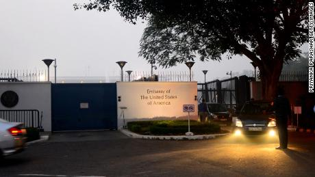 The US Embassy in New Delhi, pictured in December 2013.