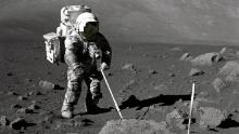 Single moon dust grain collected during Apollo 17 'preserves millions of years of history'