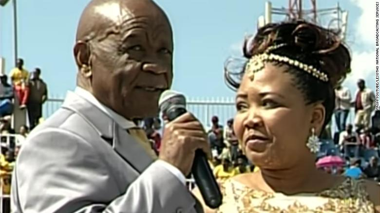 The couple were married in a Catholic ceremony in Sesoto Stadium in Maseru.