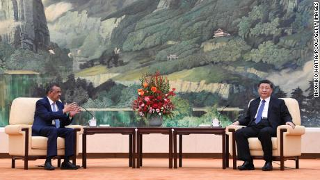 Tedros, pictured at a meeting with Chinese President Xi Jinping on January 28, has faced harsh criticism for his praise of the country's response to the coronavirus.
