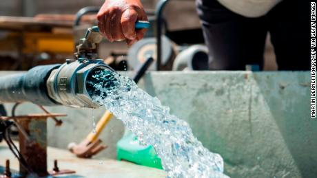There is so little naturally occurring water in the Atacama desert that water must be pumped in from external sources.