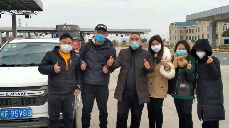 Volunteers from Fan's team have driven nearly 300 health care workers from their hometowns back to Wuhan to relieve their overstretched colleagues.