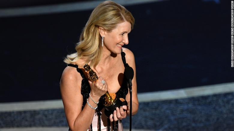Laura Dern accepts the Actress in a Supporting Role award for 'Marriage Story' onstage during the 92nd Annual Academy Awards at Dolby Theatre on February 09, 2020 in Hollywood, California. (Photo by Kevin Winter/Getty Images)