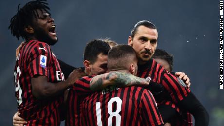 AC Milan's forward Zlatan Ibrahimovic had made it 2-0 before half-time.