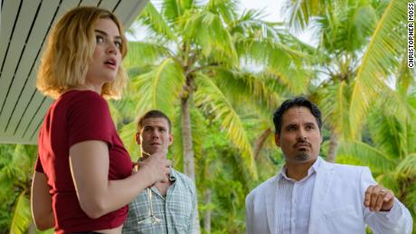 Lucy Hale, Austin Stowell and Michael Peña in 'Fantasy Island.'