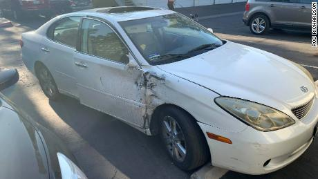 The car that allegedly hit Brenda Richardson.