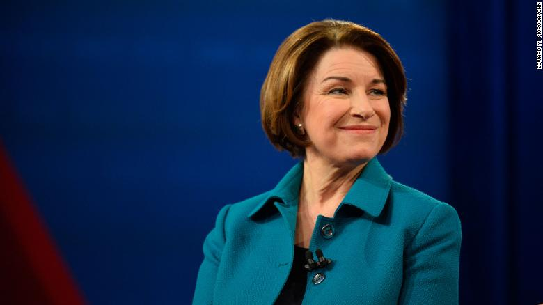 Sen. Amy Klobuchar says she was diagnosed and treated for breast cancer this year