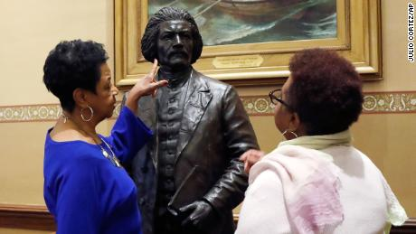 There are now statues of Frederick Douglass and Harriet Tubman inside Maryland's capitol
