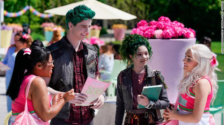 Carla Jeffery, Milo Manheim, Kylee Russell and Meg Donnelly in 'Zombies 2.' (Disney Channel/John Medland)