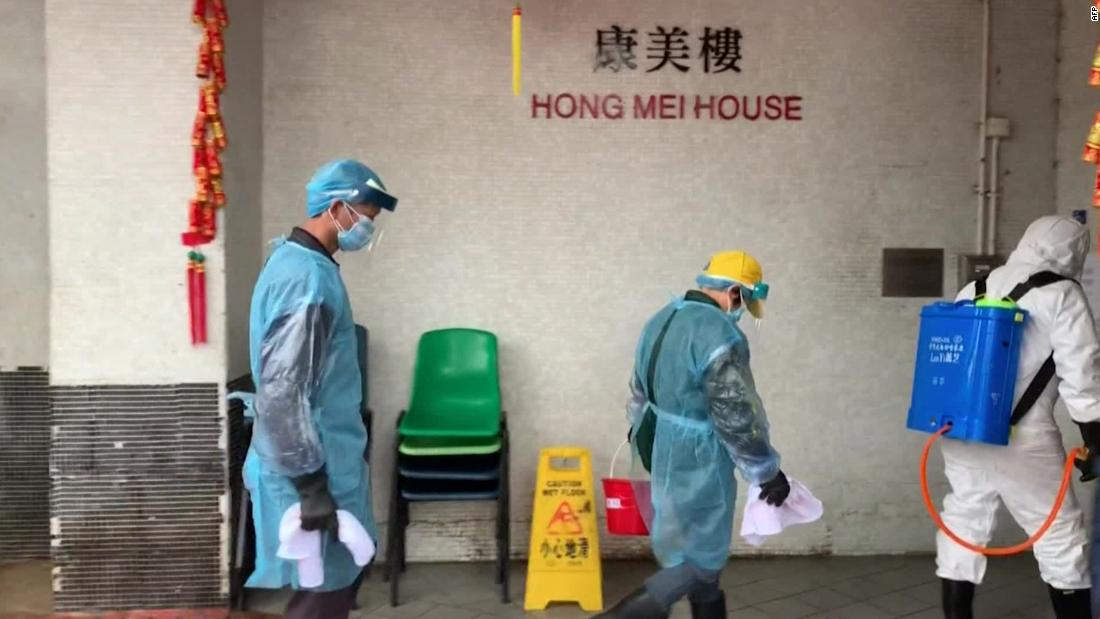 Hong Kong investigating if virus spread via one high-rise's pipes