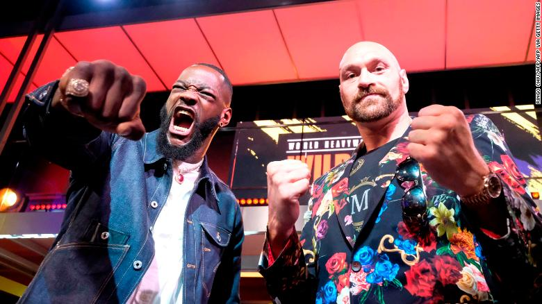 Deontay Wilder (left) and Tyson Fury will fight again in Las Vegas on February 22.
