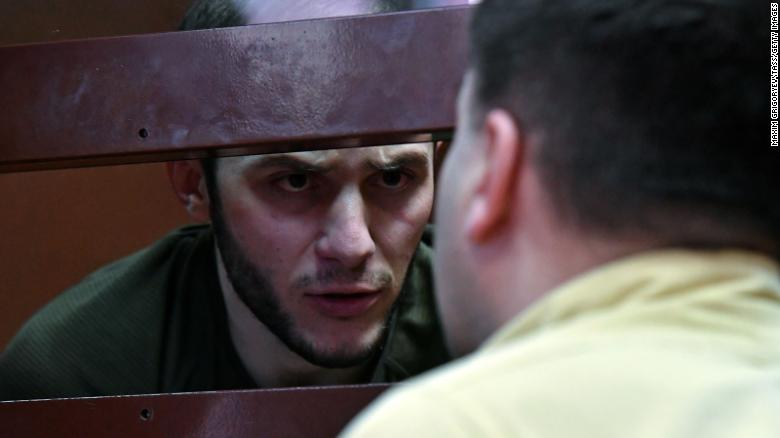 Karomatullo Dzhaborov attends a bail hearing in connection with the video showing a coronavirus prank on the Moscow metro.