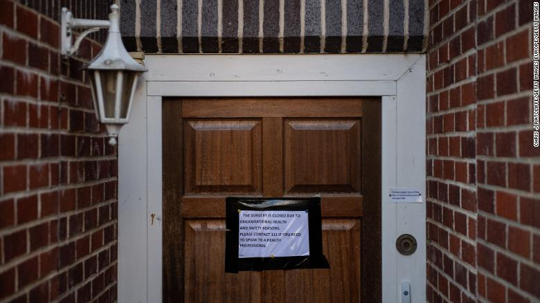 "The Deneway branch of the County Oak Medical Centre is closed amid coronavirus fears in Brighton, England, on February 11. Several locations in and around Brighton were quarantined after <a href=""https://www.cnn.com/2020/02/11/europe/steve-walsh-uk-coronavirus-patient-intl-gbr/index.html"" target=""_blank"">a man linked to several coronavirus cases in the United Kingdom</a> came into contact with health-care workers and members of the public."