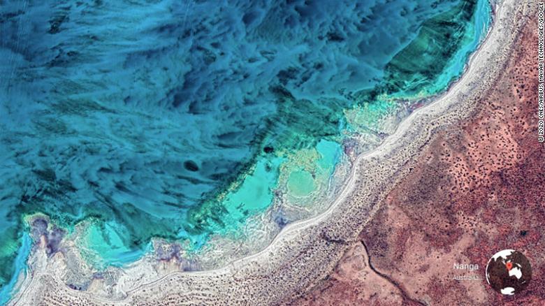 A Google Earth View of a landscape in Nanga, Australia.