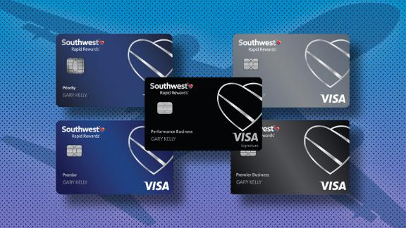 Southwest has a total of five credit cards — three personal cards and two business cards.