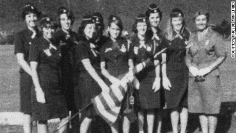 A picture from 1965 of Ronnie (far right) with her troop in Jamaica.